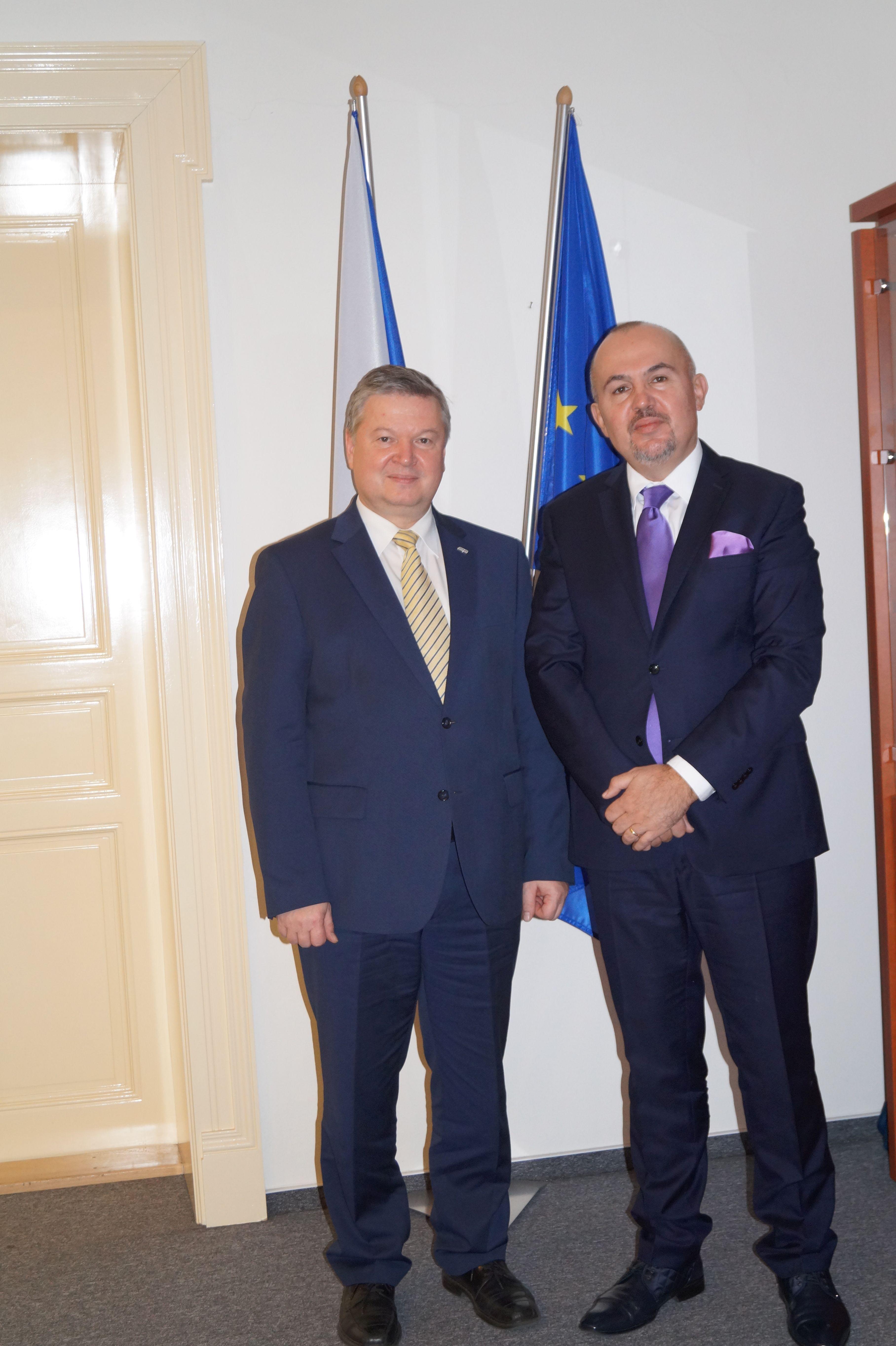 Návštěva předsedy Správy státních hmotných rezerv Slovenské republiky v Praze