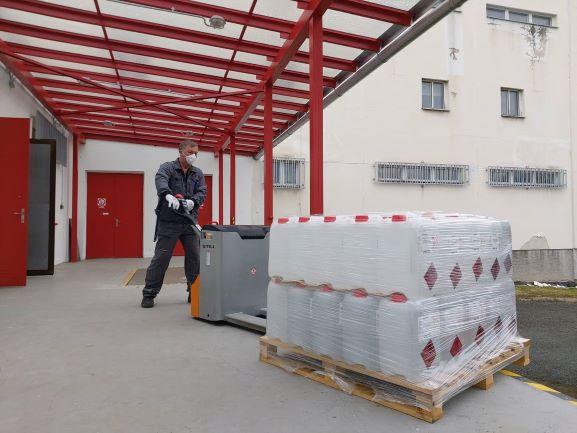 Rozvoz desinfekce ze skladu v Sedlčanech