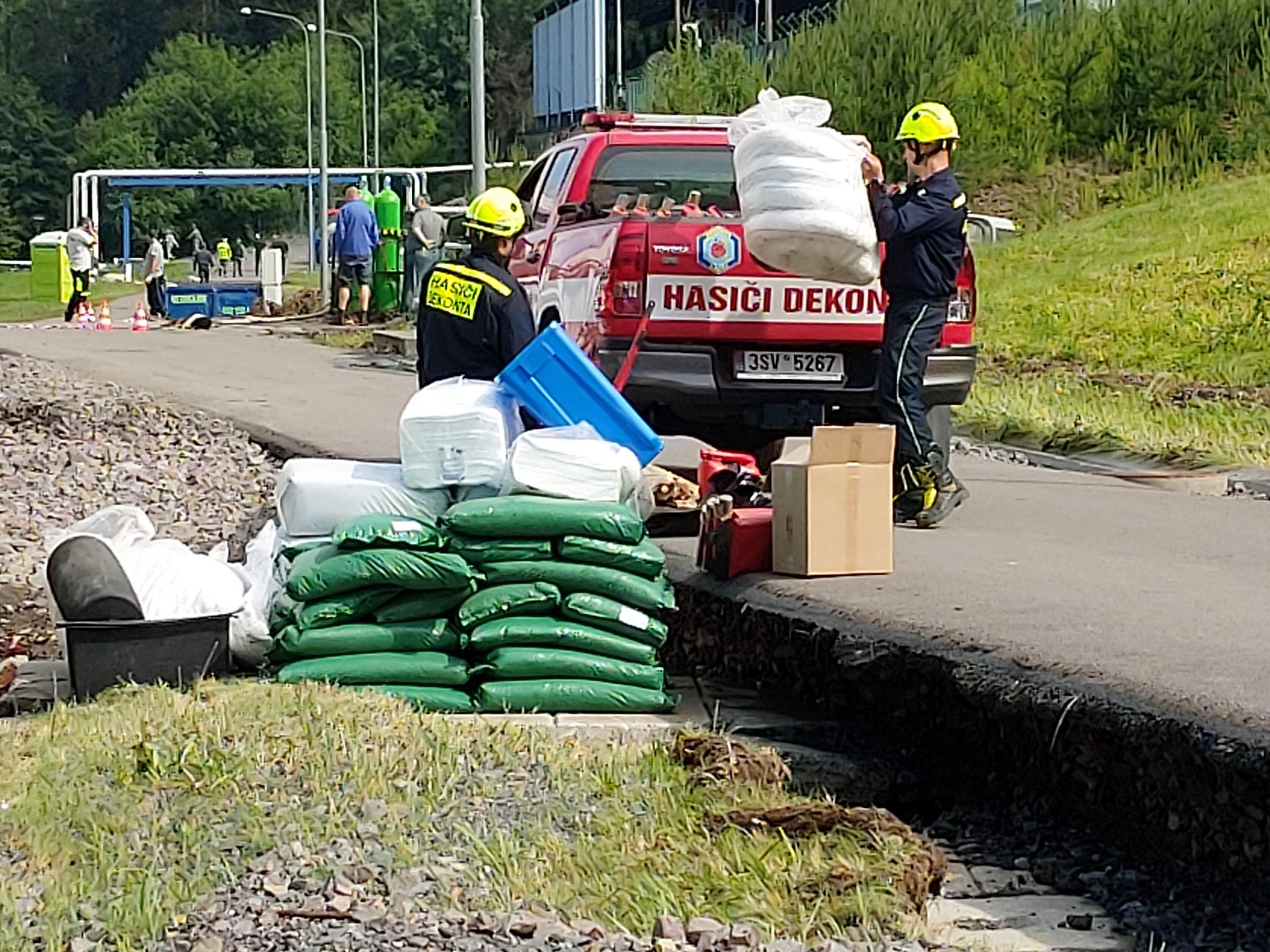 Aktuální informace k zatopenému skladu v Heřmanově Městci